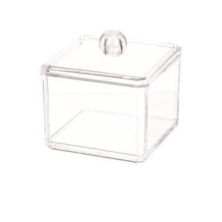 Boîte à coton en acrylique transparent