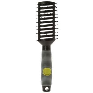 Brosse à cheveux - Manche en caoutchouc - Strie - Rectangulaire