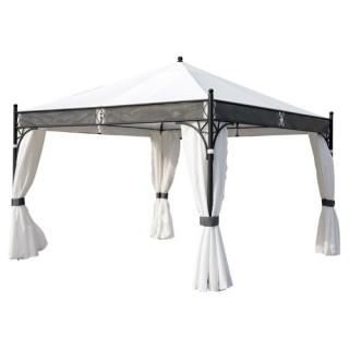 Tonnelle chapiteau tente d'extérieur Jakarta - 3,5 x 3,5 m - Blanc