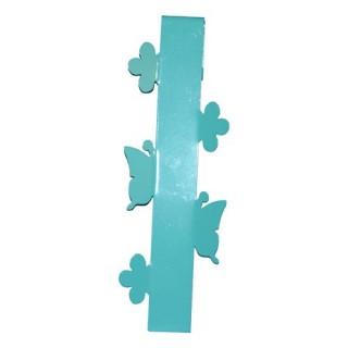 3 patères crochets Happy home - Métal - Bleu