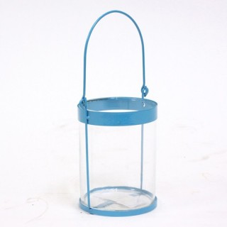 Lanterne colorée - Metal - Bleu