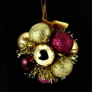 Fleur de Noël - Or et violet