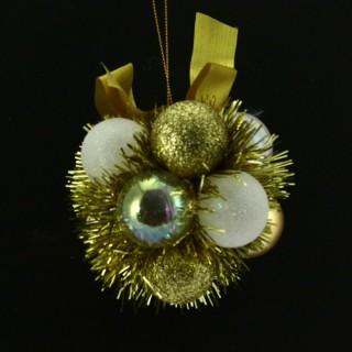Fleur de Noël - Blanc et or