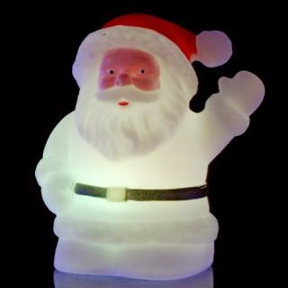 Décoration d'intérieur à LED rétro-lumineuse - Père Noël - Variation de couleurs