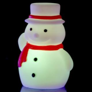 Décoration d'intérieur à LED rétro-lumineuse - Bonhomme de neige - Variation de couleurs