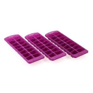 3 bacs à glaçons colorés - Prune