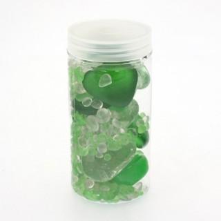 Assortiment pierres de décoration - Verre - Vert