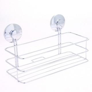 Etagère de salle de bain à ventouses - Métal