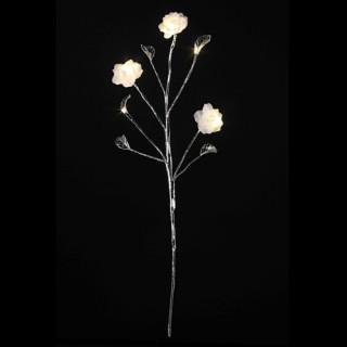 Guirlande de noël lumineuse Fleurs - 70 cm - Blanc