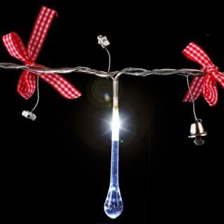 Guirlande de noël lumineuse Gouttes et nœuds - 1,35 m - Rouge et blanc