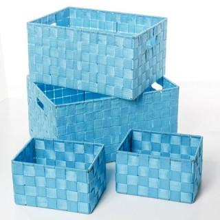 4 Paniers de rangement - Turquoise