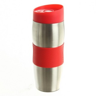 Mug isolant - Metal - Rouge