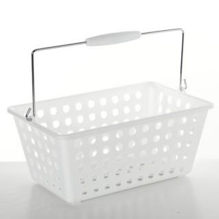 Panier de salle de bain à anses - Blanc
