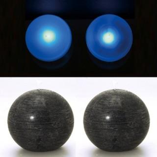 2 Lampes perles et bougies boule noir