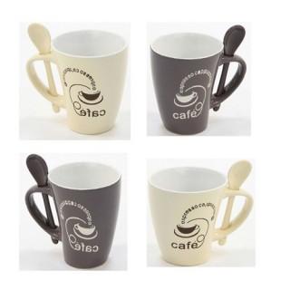 Ensemble de 4 mugs coniques - Faïence