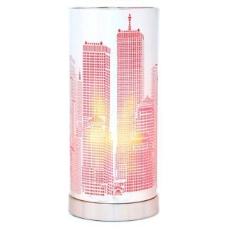 Lampe Touch cylindrique NYC et ampoule - Métal - Rose