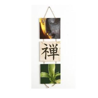 Triptyque Zen - 45 x 15 cm. - Signe chinois