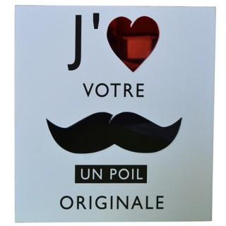 Cadre imprimé Mystery - 24 x 24 cm. - J'aime votre moustache