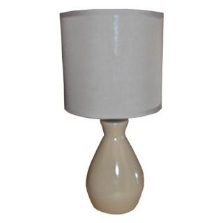 Lampe colorée et ampoule - Céramique - Taupe