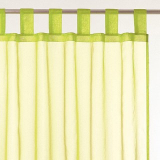 2 Voilages Organza - 140 x 240 cm - Vert