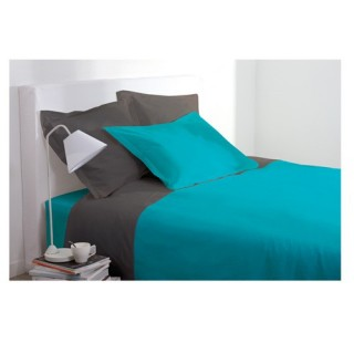 Drap housse - 160 x 200 cm - Turquoise