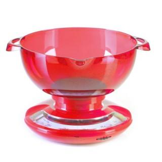 Balance de cuisine mécanique Saladier - Rouge