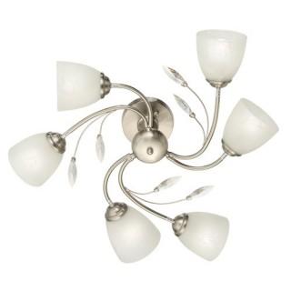 Plafonnier 6 Lampes Romantica - Diam.60 cm - Acier Brossé