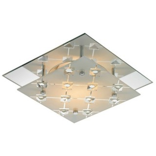 Applique Metropol - 24 x 24 cm - Metal chromé