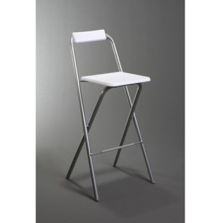 Chaise de bar pliante Louna - Blanc