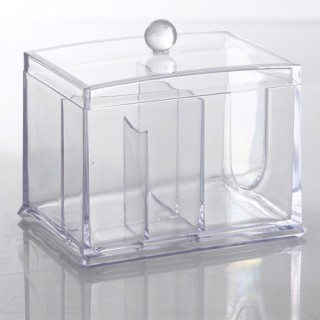 Boîte à Cosmétiques - 2 compartiments - Transparent
