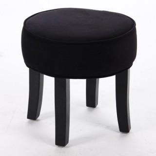 Tabouret Adriel - Velour - Noir