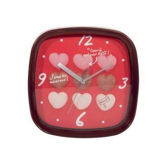 Horloge murale Macarons - Rouge