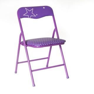 Chaise pliante Enfant - Métal - Violet