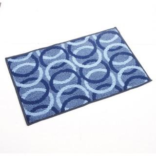 Tapis Cercle - 80 x 50 cm. - Bleu