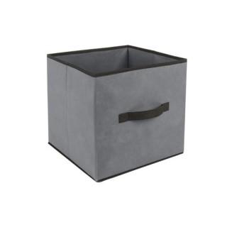 Boîte de rangement pour meuble - 31 x 31 cm. - Gris