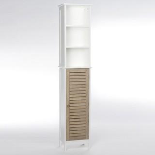 Colonne de salle de bain - Bois - Blanc