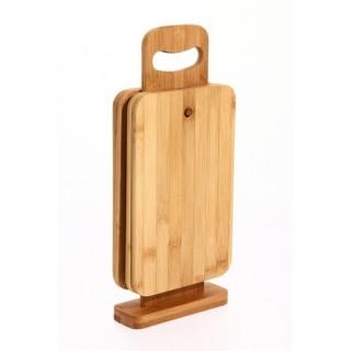 4 Planches à tapas avec support - Bambou
