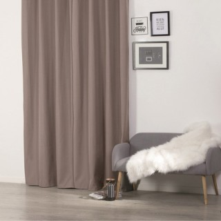 Rideau isolant - 140 x 260 cm. - Polyester - Taupe
