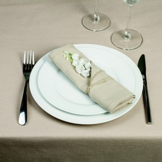 4 Serviettes de table - Coton - Couleur lin