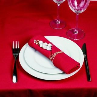 4 Serviettes de table - Coton - Rouge