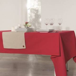 Nappe anti-taches Coton - 150 x 150 cm. - Rouge