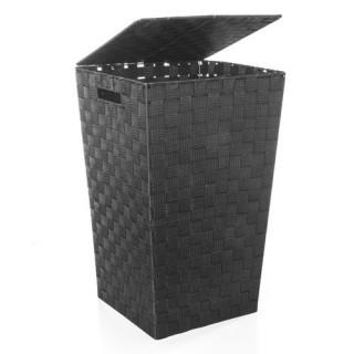 Panier à linge - Polyester tressé - Noir