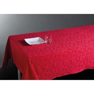 Nappe Jacquard Arabesque - 150 x 300 cm - Rouge