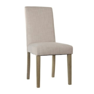Chaise de salon Cleva - Lin - Beige