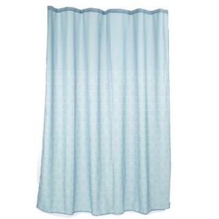 Rideau de douche Scandi - L. 180 x H. 200 cm - Bleu