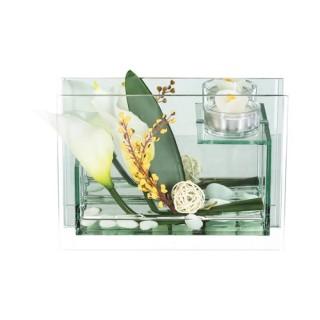 Composition de fleurs artificielles Arums - H. 14,5 cm
