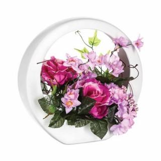 Composition de fleurs artificielles Rose - Céramique - Rose