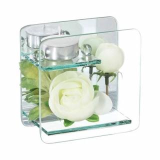Composition de fleurs artificielles Renoncules - Carré - Blanc