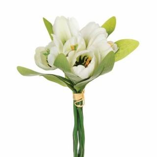 Bouquet 6 Tulipes artificielles - H. 25 cm