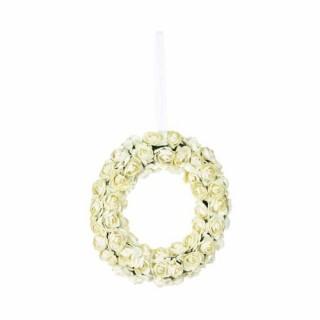 Couronne de fleurs artificielles - Fleurs blanches